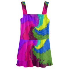 Art Abstract Pattern Color Kids  Layered Skirt Swimsuit