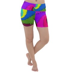 Art Abstract Pattern Color Lightweight Velour Yoga Shorts