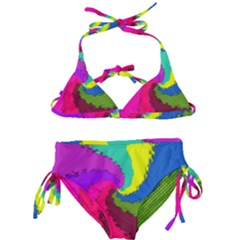 Art Abstract Pattern Color Kids  Classic Bikini Set