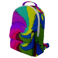 Art Abstract Pattern Color Flap Pocket Backpack (small)