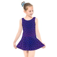 Background Lines Pattern Line Art Kids  Skater Dress Swimsuit