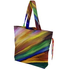 Graffiti Painting Pattern Abstract Drawstring Tote Bag