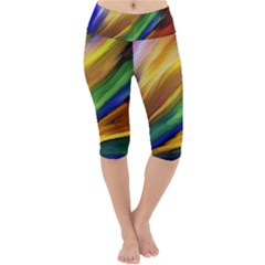Graffiti Painting Pattern Abstract Lightweight Velour Cropped Yoga Leggings