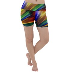 Graffiti Painting Pattern Abstract Lightweight Velour Yoga Shorts