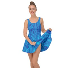 Blue Abstract Pattern Art Shape Inside Out Casual Dress