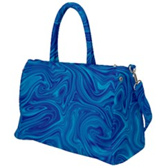 Blue Abstract Pattern Art Shape Duffel Travel Bag