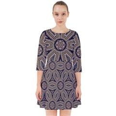 Pattern Decoration Abstract Smock Dress