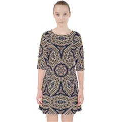 Pattern Decoration Abstract Pocket Dress