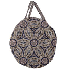 Pattern Decoration Abstract Giant Round Zipper Tote