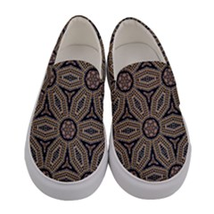 Pattern Decoration Abstract Women s Canvas Slip Ons