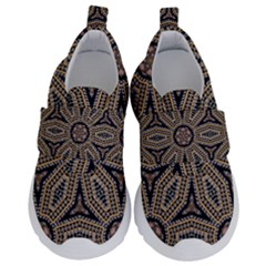 Pattern Decoration Abstract Velcro Strap Shoes