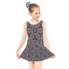 Pattern Decoration Abstract Kids  Skater Dress Swimsuit