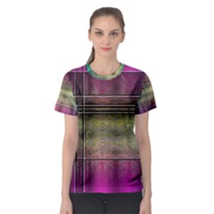 Abstract Desktop Pattern Wallpaper Women s Sport Mesh Tee