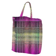 Abstract Desktop Pattern Wallpaper Giant Grocery Tote