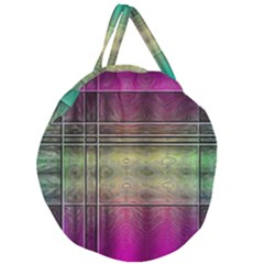 Abstract Desktop Pattern Wallpaper Giant Round Zipper Tote