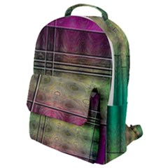 Abstract Desktop Pattern Wallpaper Flap Pocket Backpack (small)