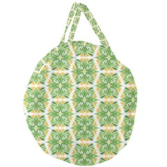 Pattern Abstract Decoration Flower Giant Round Zipper Tote