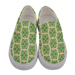 Pattern Abstract Decoration Flower Women s Canvas Slip Ons