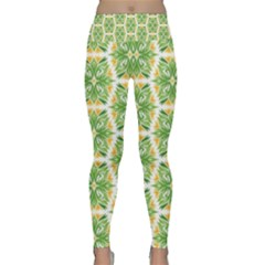 Pattern Abstract Decoration Flower Lightweight Velour Classic Yoga Leggings