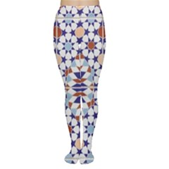 Morocco Essaouira Tile Pattern Tights