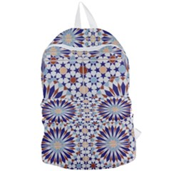 Morocco Essaouira Tile Pattern Foldable Lightweight Backpack by Nexatart