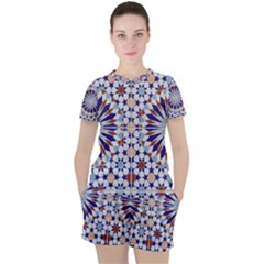 Morocco Essaouira Tile Pattern Women s Tee And Shorts Set