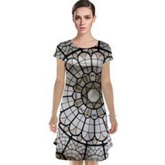 Pattern Abstract Structure Art Cap Sleeve Nightdress