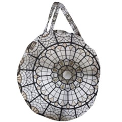 Pattern Abstract Structure Art Giant Round Zipper Tote