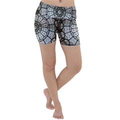 Pattern Abstract Structure Art Lightweight Velour Yoga Shorts