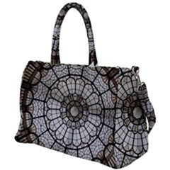 Pattern Abstract Structure Art Duffel Travel Bag by Nexatart