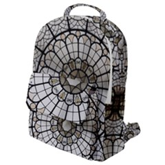 Pattern Abstract Structure Art Flap Pocket Backpack (small)
