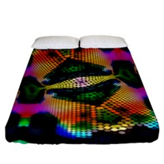 Butterfly Color Pop Art Fitted Sheet (king Size) by Nexatart