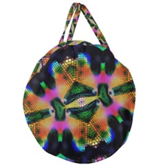 Butterfly Color Pop Art Giant Round Zipper Tote