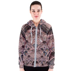 Pattern Decoration Art Architecture Women s Zipper Hoodie