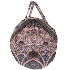 Pattern Decoration Art Architecture Giant Round Zipper Tote