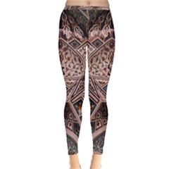 Pattern Decoration Art Architecture Inside Out Leggings by Nexatart