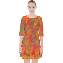 Abstract Pattern Art Canvas Pocket Dress