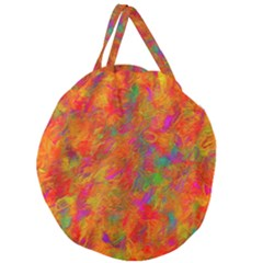 Abstract Pattern Art Canvas Giant Round Zipper Tote