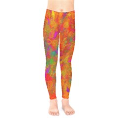Abstract Pattern Art Canvas Kids  Legging