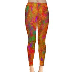 Abstract Pattern Art Canvas Inside Out Leggings by Nexatart