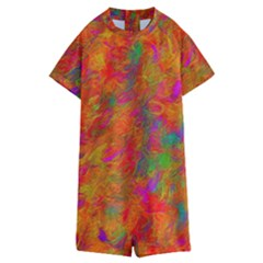 Abstract Pattern Art Canvas Kids  Boyleg Half Suit Swimwear