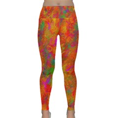 Abstract Pattern Art Canvas Lightweight Velour Classic Yoga Leggings