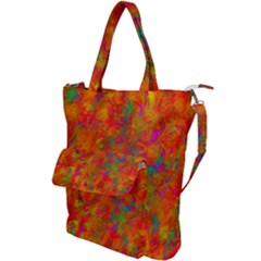 Abstract Pattern Art Canvas Shoulder Tote Bag
