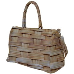 Wicker Model Texture Craft Braided Duffel Travel Bag