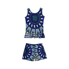 Pattern Art Form Architecture Kid s Boyleg Swimsuit