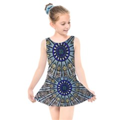 Pattern Art Form Architecture Kids  Skater Dress Swimsuit