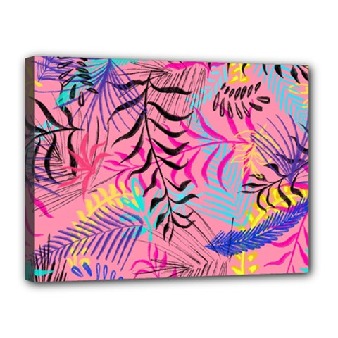 Illustration Reason Leaves Design Canvas 16  X 12  (stretched)