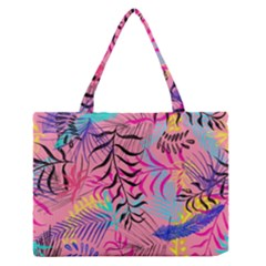 Illustration Reason Leaves Design Zipper Medium Tote Bag