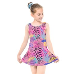 Illustration Reason Leaves Design Kids  Skater Dress Swimsuit
