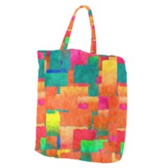 Pattern Texture Background Color Giant Grocery Tote